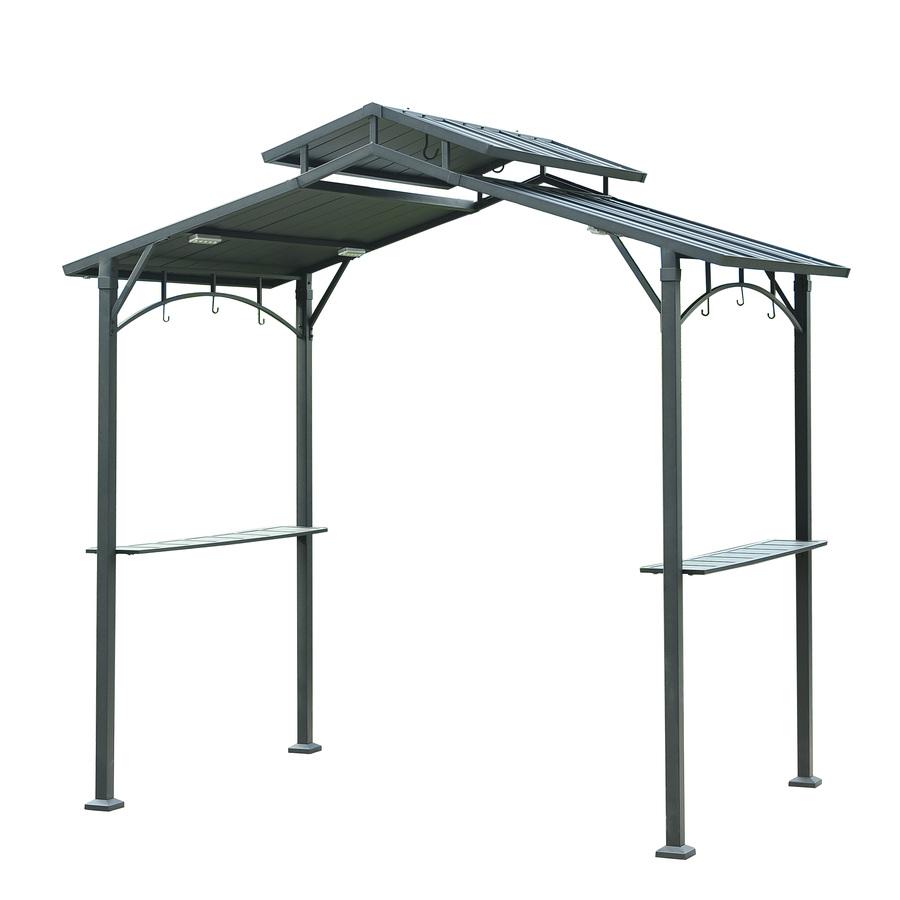 steel gazebo display product reviews for matt black metal rectangle grill gazebo  (exterior: DZZLJCV