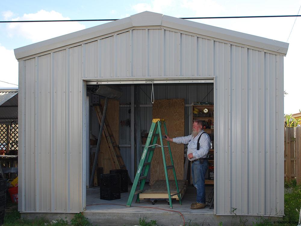 steel sheds ... hurricane resistant steel storage shed KOXOEZM