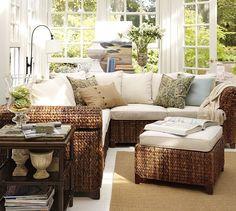 sunroom furniture seagrass sectional ottoman. sectional ottomansunroom furniturefurniture ... CSMEHKL