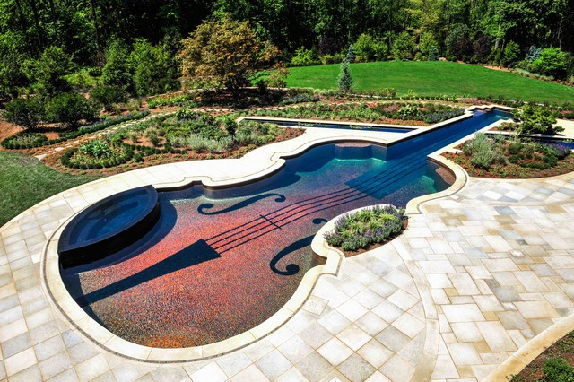 swimming pool landscaping ideas bergen county northern nj eclectic-pool UXNCWEI