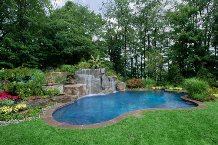 swimming pool landscaping ideas in texas TGVBDUK