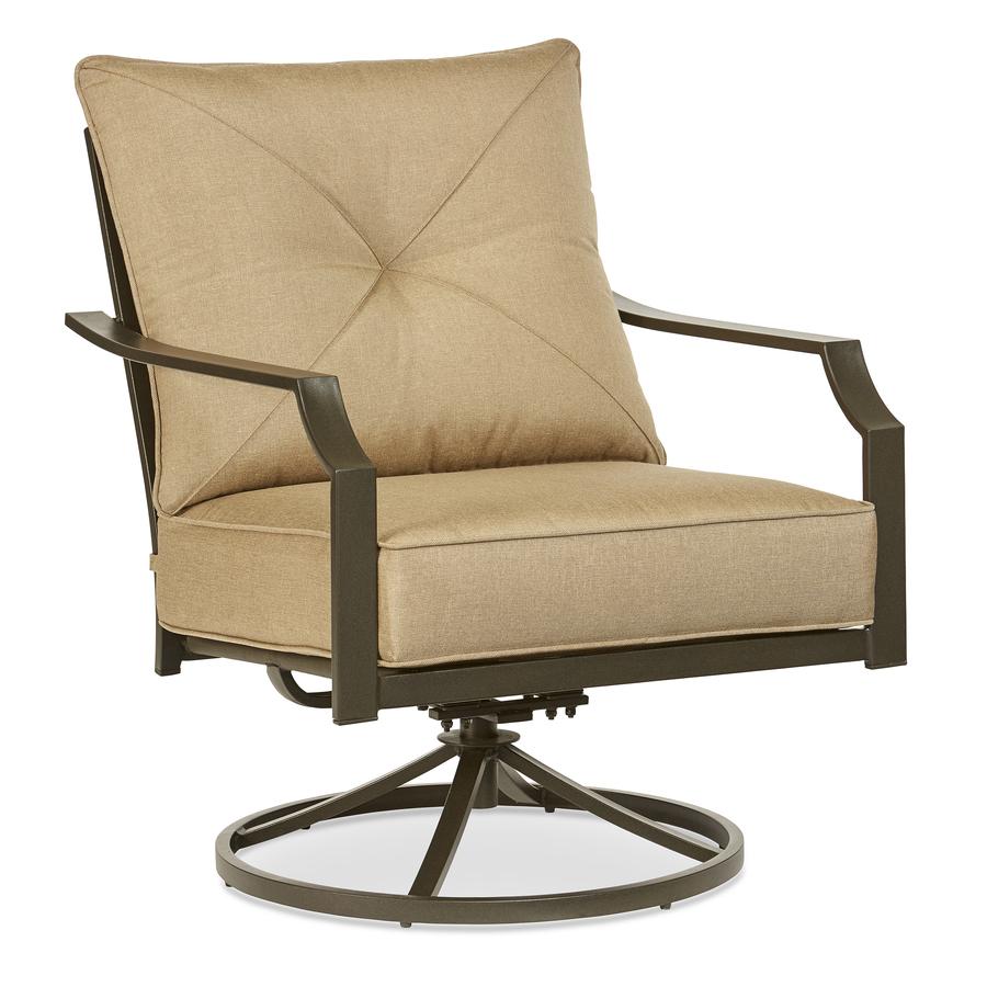 swivel patio chairs garden treasures vinehaven set of 2 steel swivel patio conversation chairs WWINXBJ