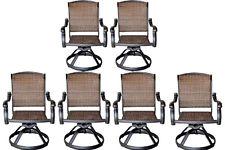 swivel patio chairs wicker swivel rocker patio chairs set of 6 outdoor cast aluminum furniture REKRBYK