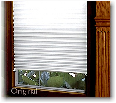 temporary blinds these affordable, temporary pleated shades are made from heavy-duty white  paper JVMYOEQ