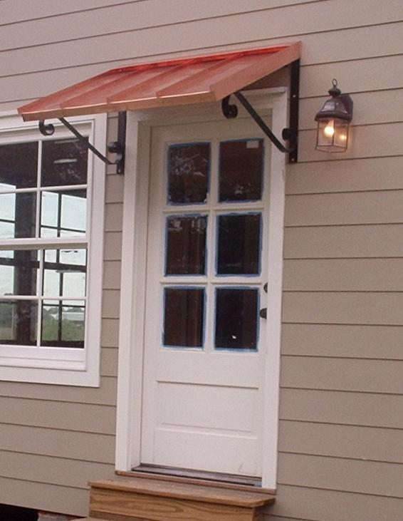 the copper door awning with single s scrolls GBZUEXW