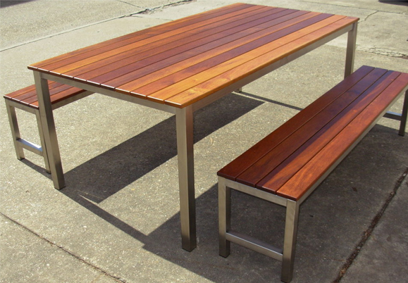 timber outdoor furniture post u0026 rail table - outdoor dining tables brisbane - timber outdoor JEJMTXX