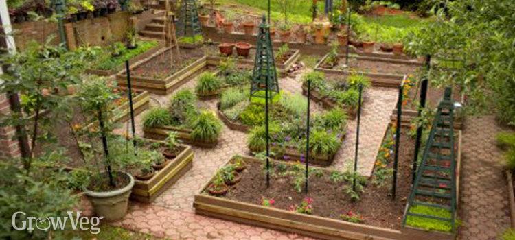 vegetable garden design how to design a potager garden LHJPMYG