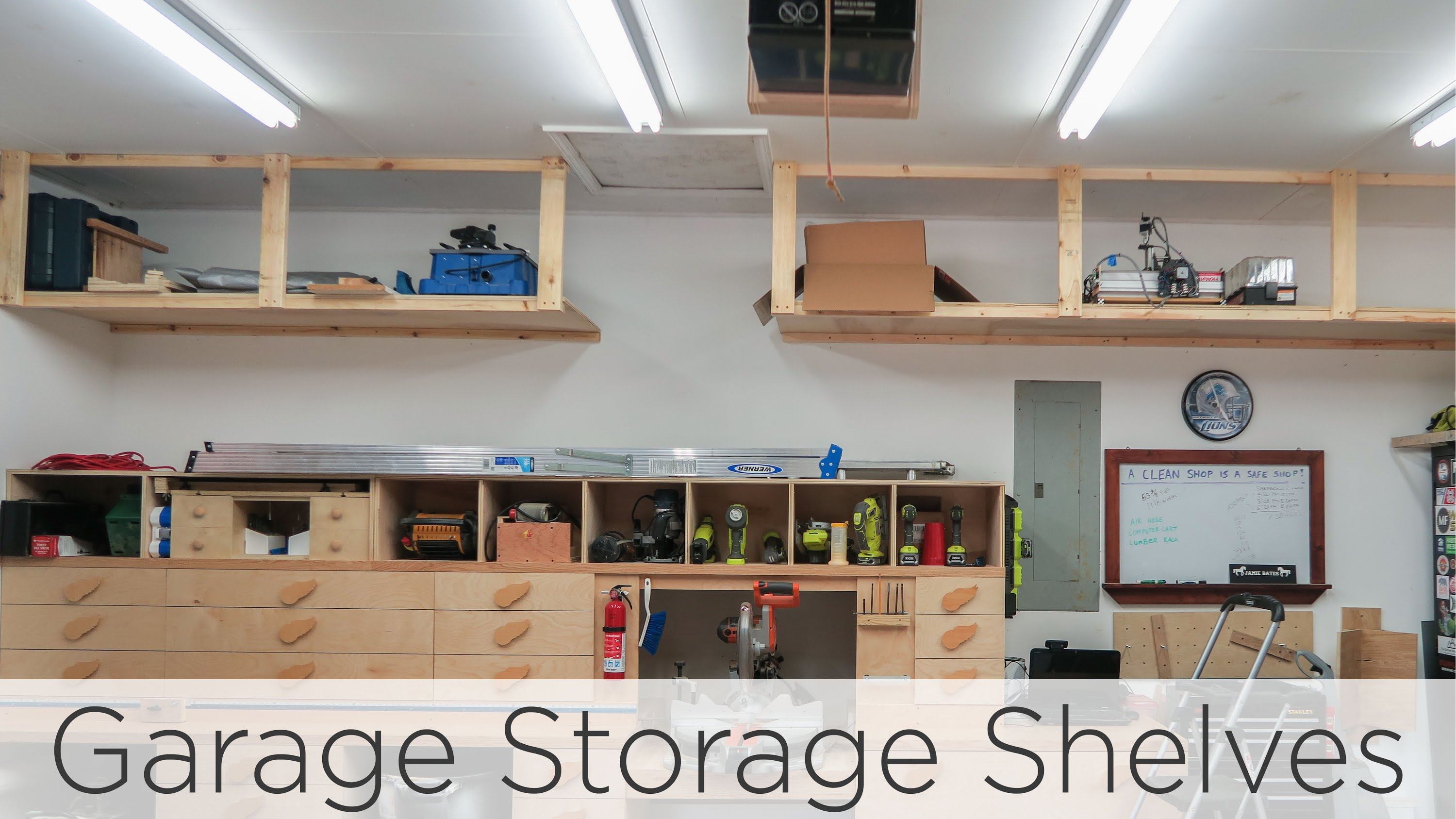wasted space garage storage shelves - 202 - youtube CGBXHYF