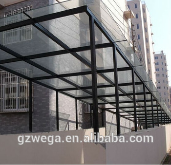wega new designed glass canopy MSQGJEJ