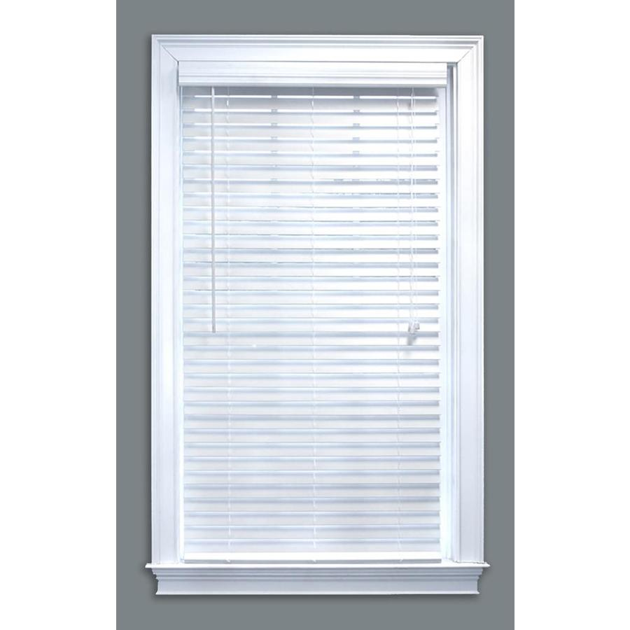 white blinds display product reviews for 2-in white faux wood blinds (common: 59- QSYMAKP