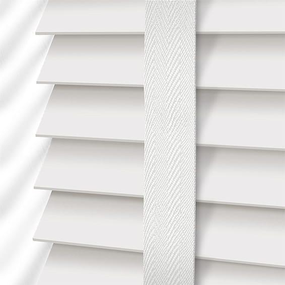 white blinds true white u0026 linen faux wood blind - 50mm slat NDJUDLP