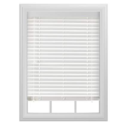 white wood blinds bali blinds 2 faux wood corded, 32x64, white EJMYLNR