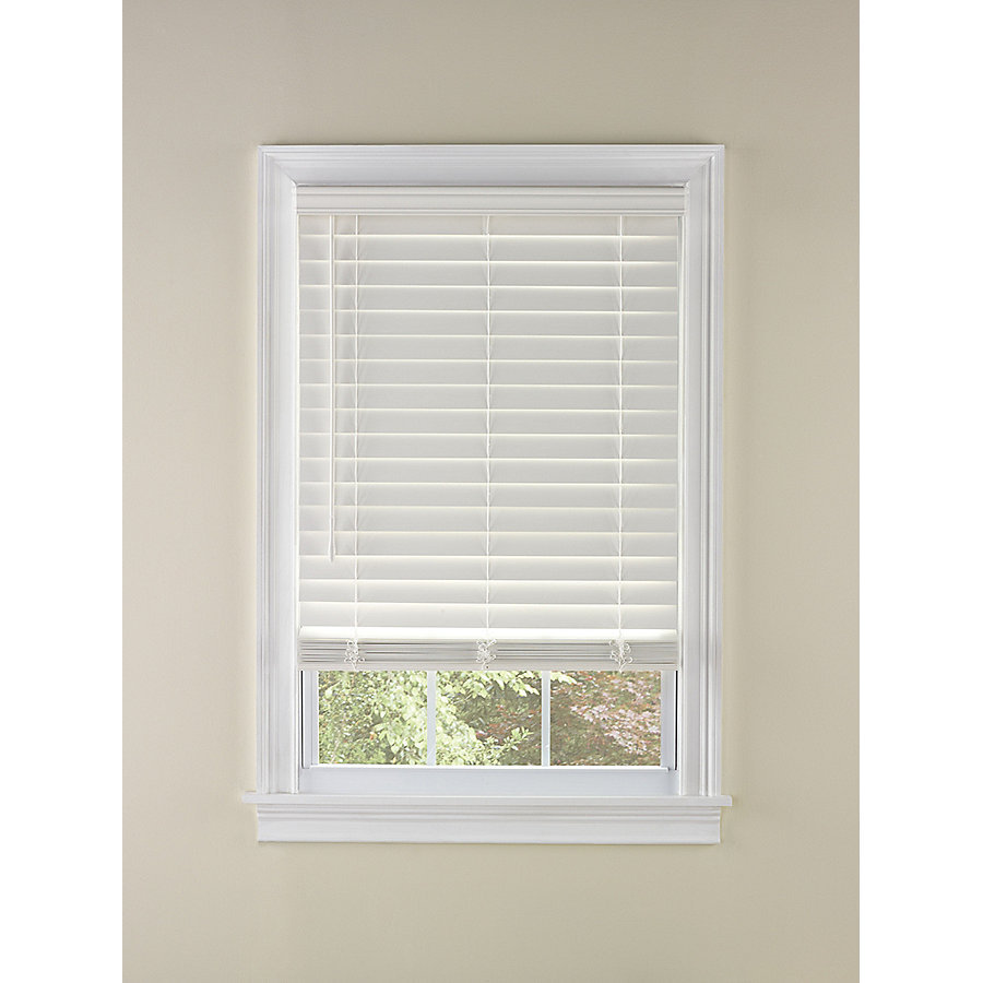 white wood blinds levolor 2-in cordless white faux wood blinds (common: 35-in; SEHPKNW