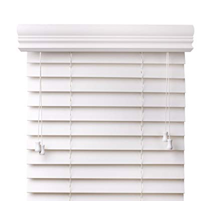white wooden blinds arlo blinds snow white 2-inches faux wood horizontal blinds - size: 34 FFIHQEW