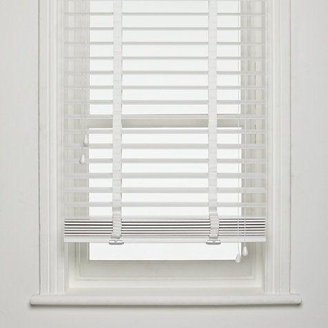 white wooden blinds buy john lewis fsc wooden venetian blinds, 50mm online at johnlewis.com RDUQYVZ