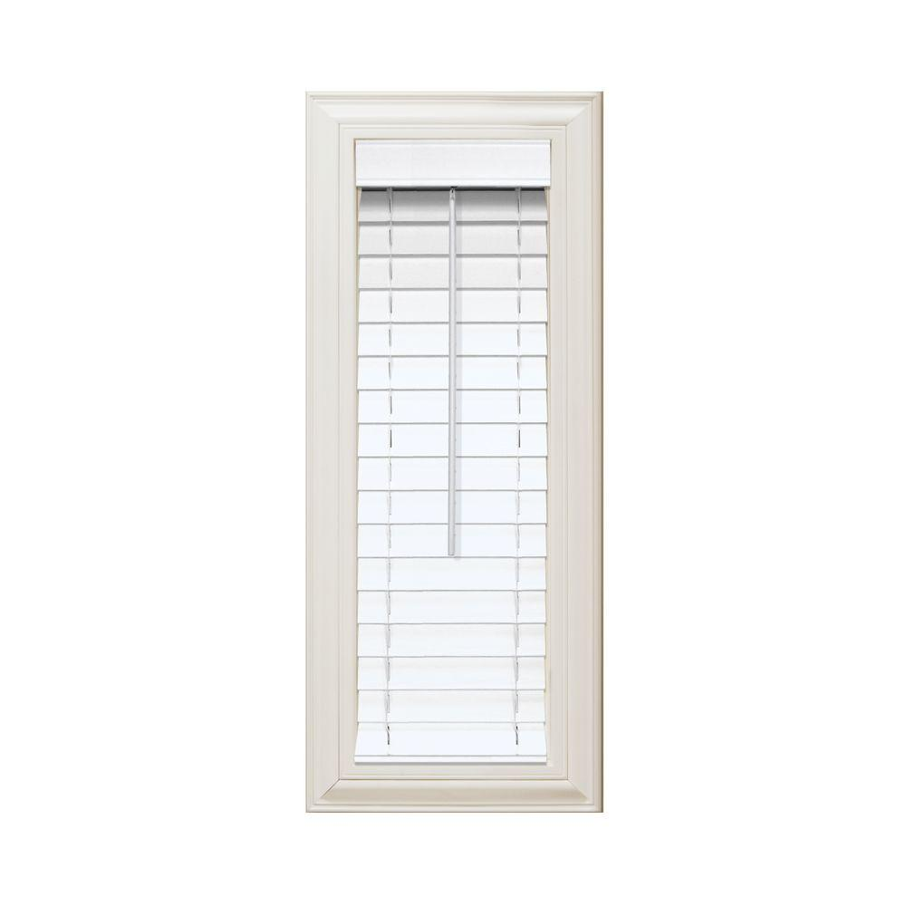 white wooden blinds home decorators collection white 2 in. faux wood blind - 35 in. MIRKLHT