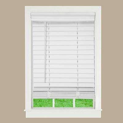 white wooden blinds white ... HZOXGBM