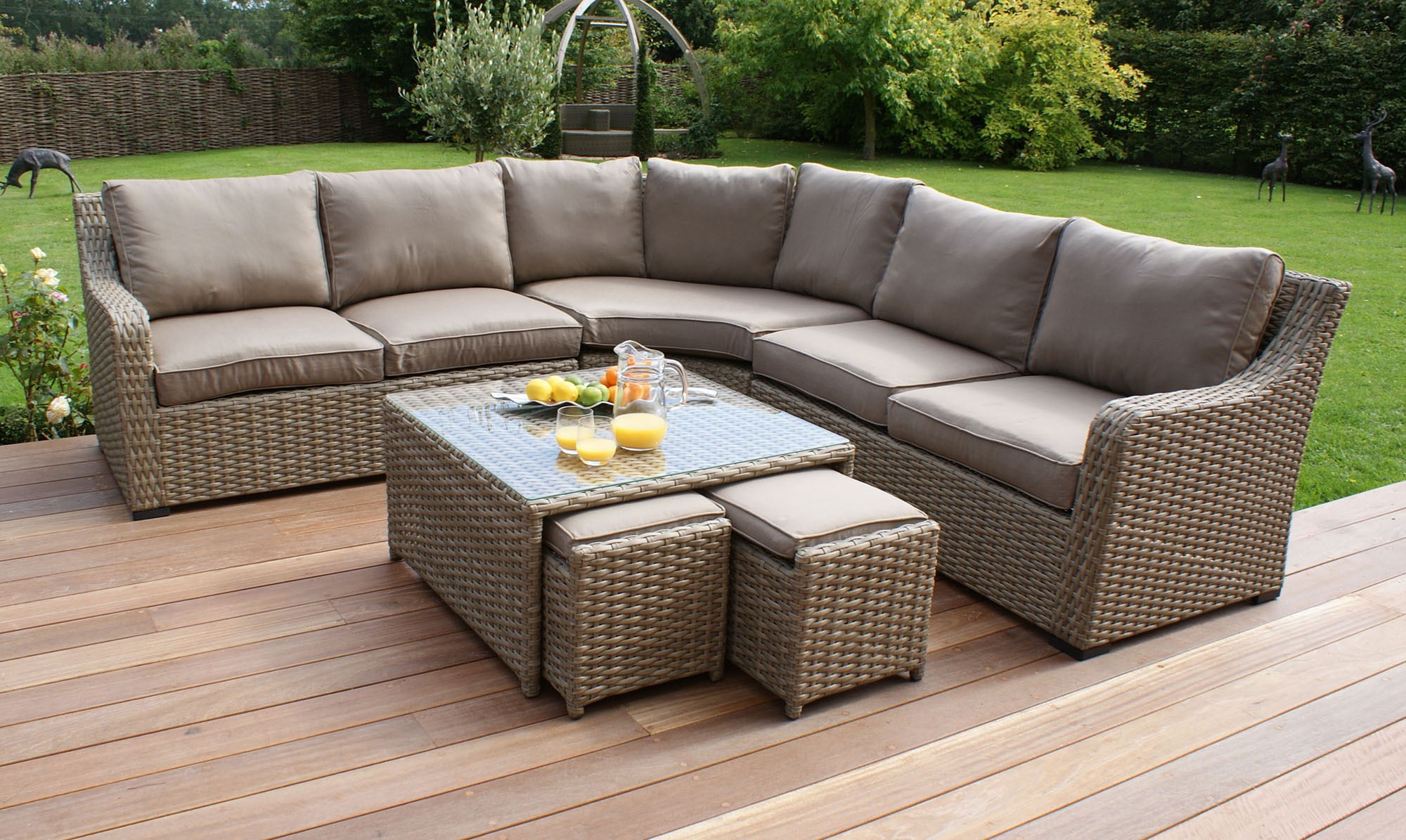 wicker garden furniture rattan garden sofas \u0026 sofa sets for your garden RZHKPAI