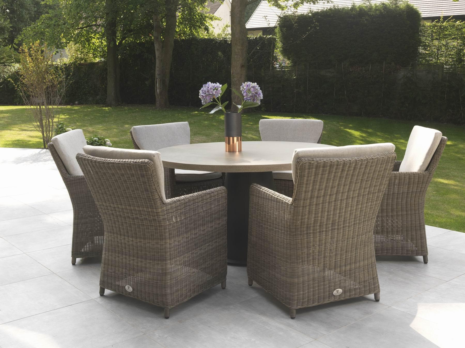 wicker garden furniture rimini 6 seater rattan garden furniture range ZAIPJVJ