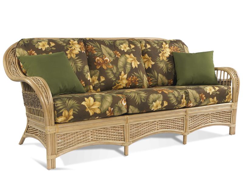 wicker sofa rattan sofa - tropical breeze FWJPKJY