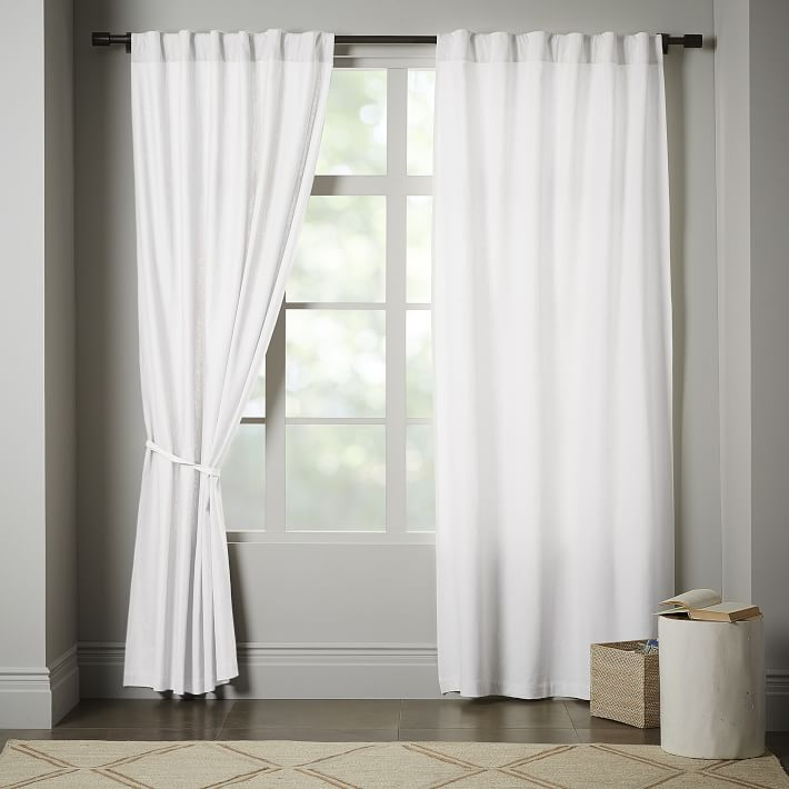 window panels linen cotton curtain - stone white   west elm IIMLVOX