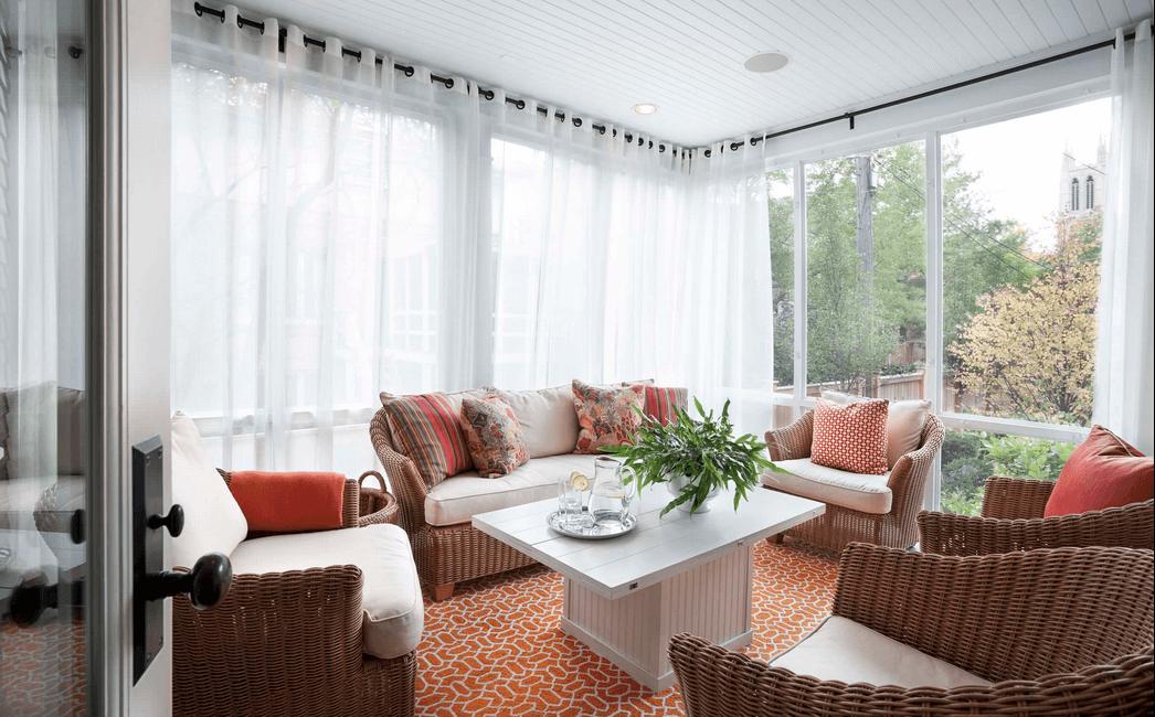 window treatments ideas sheer white wrap around curtains CMYUPVC
