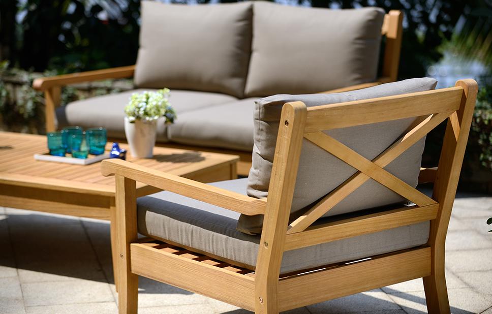wood outdoor furniture cozy teak wood furniture EAZLPQM