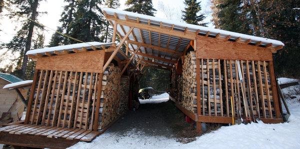 wood shed fairbanks coupleu0027s drive-thru woodshed design stacks up well MTYNMYI