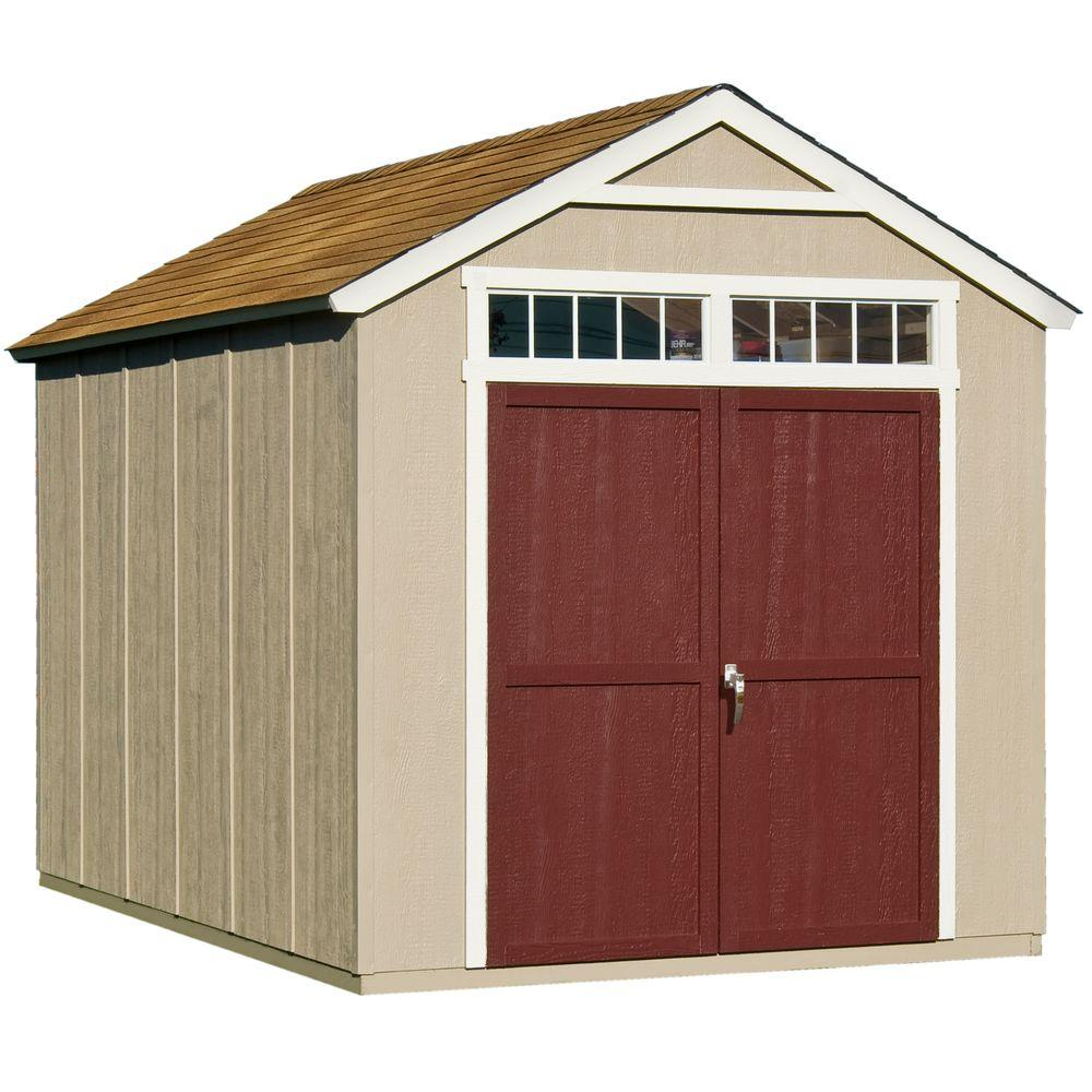 wood storage sheds handy home products majestic 8 ft. x 12 ft. wood storage shed BPRAMWI