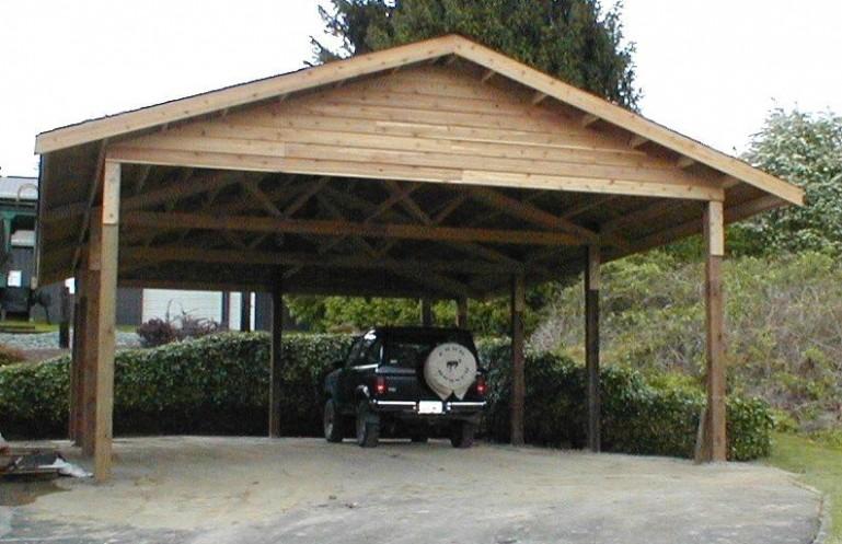 wooden carports   6 x 6 cedar carport attached carport outside . EIVFRSM