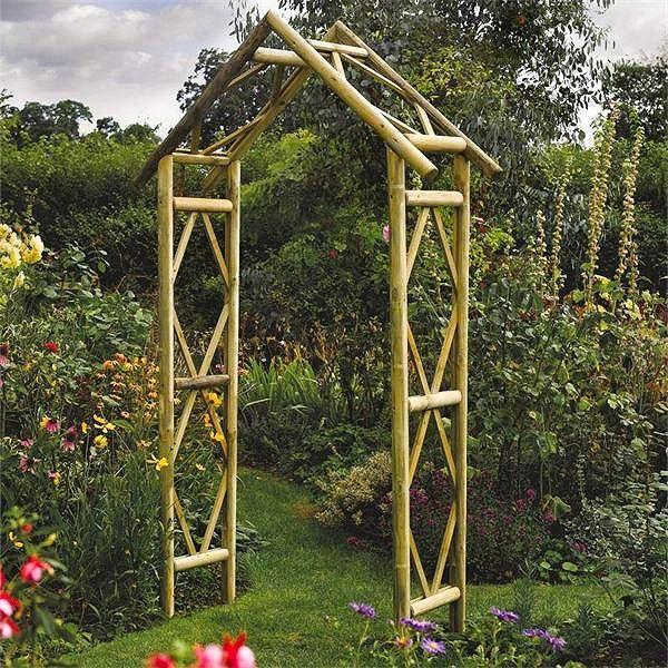 wooden garden arches rustic style wooden garden arch NKYQCTX