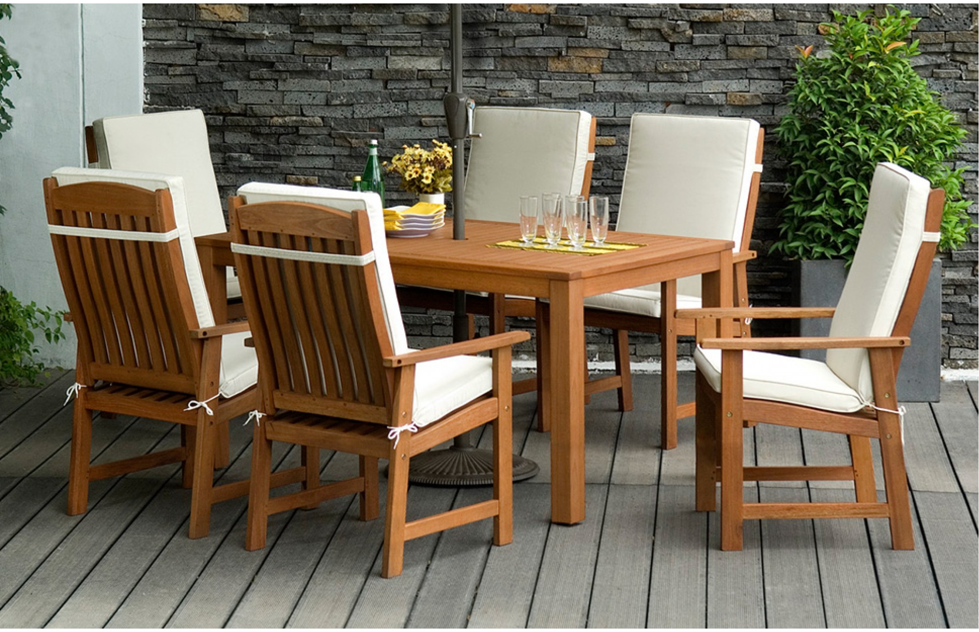 wooden garden furniture sets 6 seater garden dining set outdoor furniture out out with regard to PRQWBLE