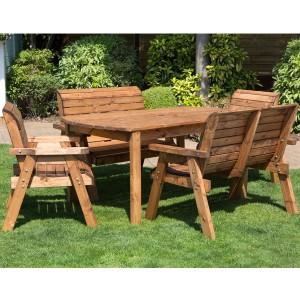 wooden garden furniture sets redlands 6 seater rectangular bench and chairs small garden dining set VTOWJWN