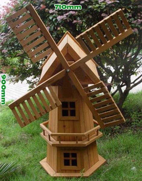 wooden garden windmill 900mm - garden windmills australia FBUPLXA