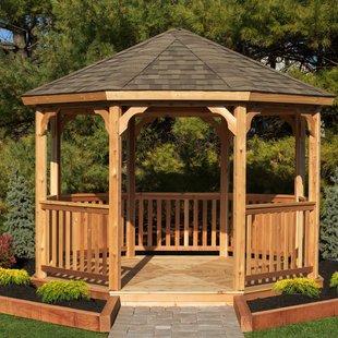 wooden gazebo 12 ft. w x 12 ft. d solid wood patio gazebo BXBSHUG