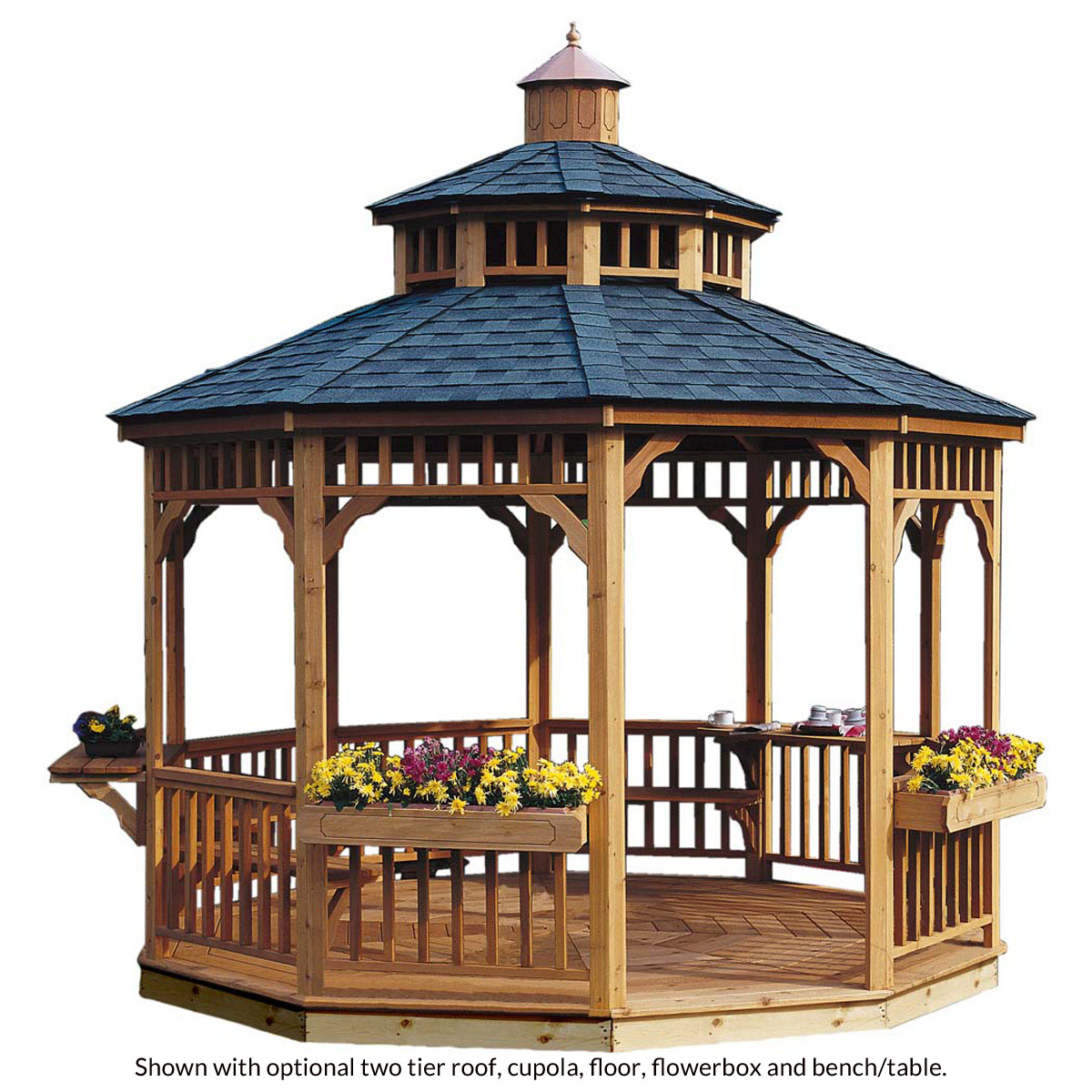 wooden gazebos crafted from select, tight-knot cedar, your new gazebo is resistant to GOSGHND