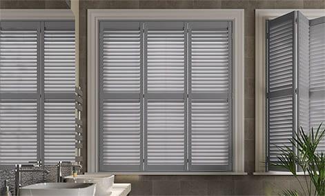wooden shutter blinds san jose premium french grey thumbnail image XDEUCRG