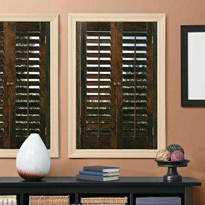 wooden window shutters plantation walnut real wood interior shutter ... MLTTEXQ