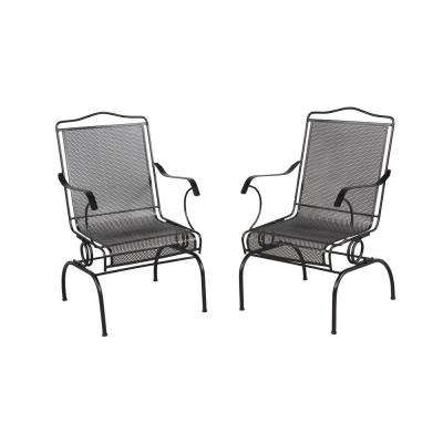 wrought iron chairs jackson action patio chairs (2-pack) MFJLTXN