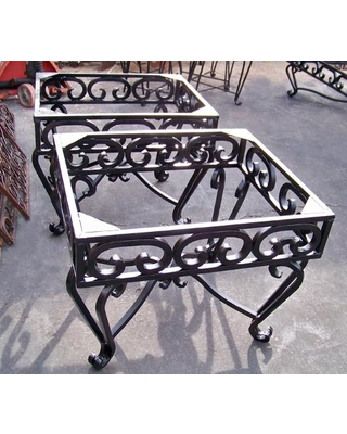 wrought iron furniture wrought iron end tables - heavy wrought iron end table bases $550.00 PAAPJMI