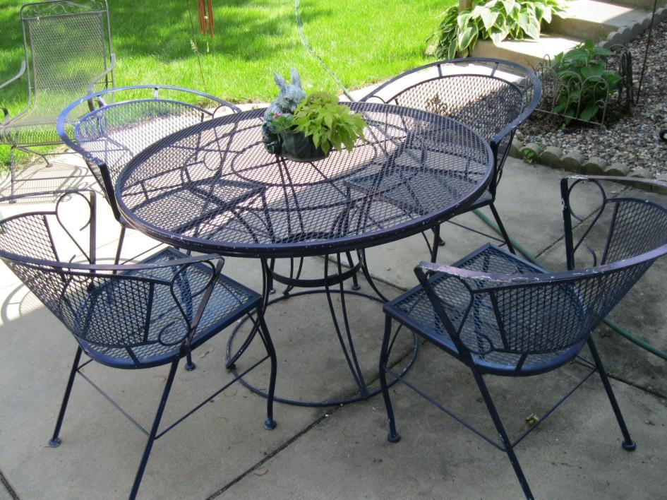 wrought iron patio set best wrought iron patio furniture sets KEQVGLF