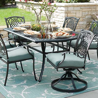 wrought iron patio set metal patio dining sets VHDPDGX