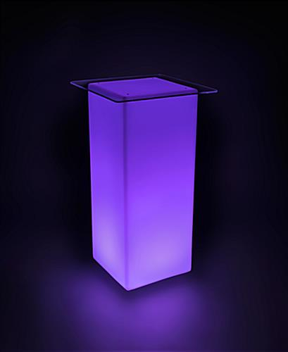 LED Lighted Cocktail Table | Acrylic Tabletop