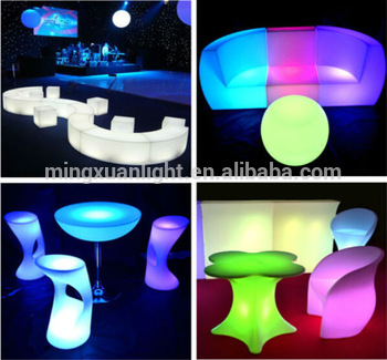 Rechargeable Outdoor Acrylic Led Furniture For Bar Set - Buy Acrylic