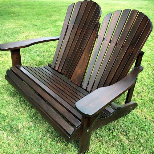Double Adirondack chair 0102 - Cedtek