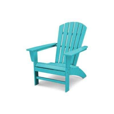 Traditional Curveback Aruba Plastic Outdoor Patio Adirondack Chair