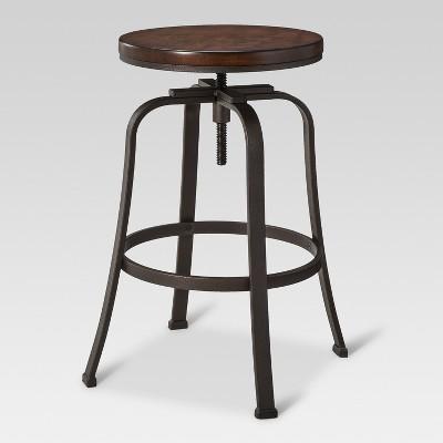 Dakota Adjustable Wood Seat Barstool - Threshold™ : Target