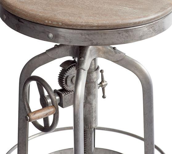 Pittsburgh Adjustable Height Bar Stool | Pottery Barn