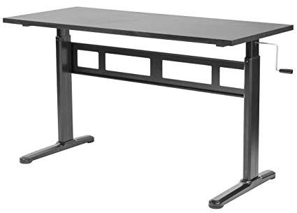 Amazon.com : VIVO Black Manual Height Adjustable Table Sit-Stand