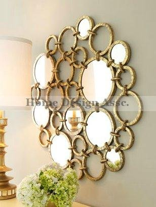 Amazon.com: Extra Large MIRRORED RINGS Circles Modern Gold Wall Art